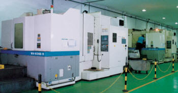 Machining centres for sewing machine production